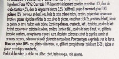 Panaché de homard, crabe et langouste - Ingrédients - fr