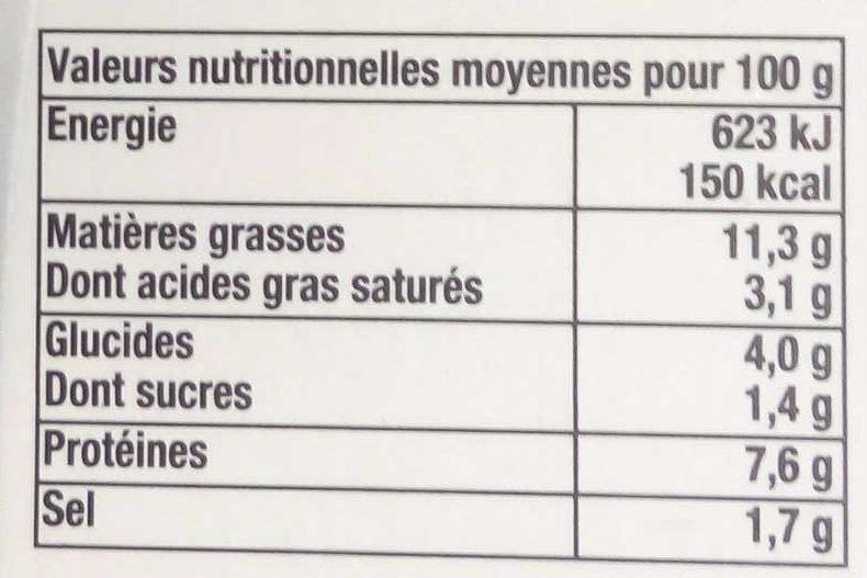 Panaché de homard, crabe et langouste - Informations nutritionnelles - fr