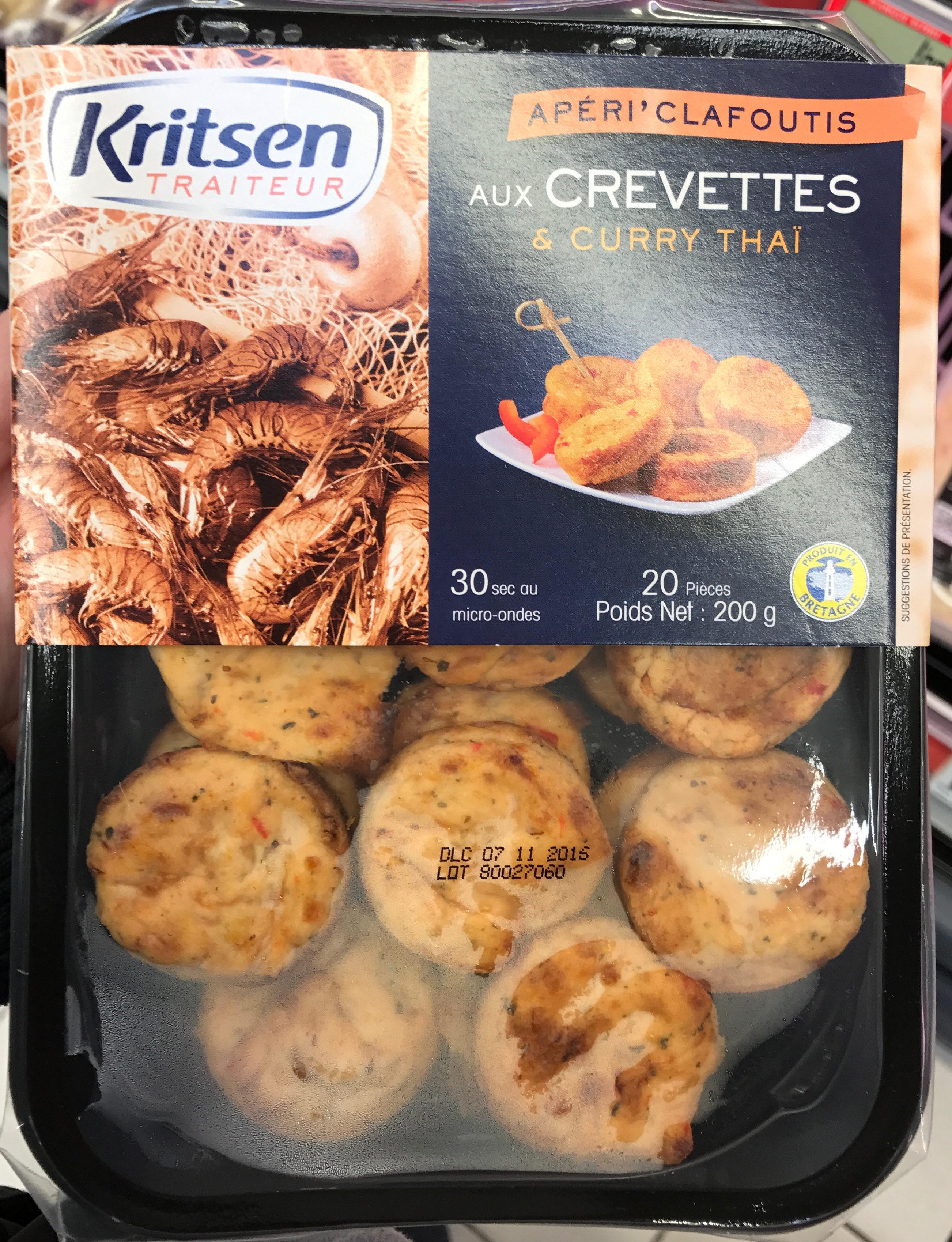 Apéri' Clafoutis aux crevettes & curry Thaï - Product - fr
