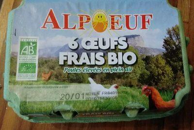 6 œufs frais bio - Product