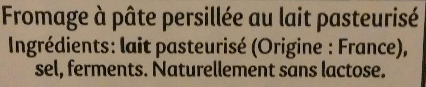 Généreux - Ingrédients - fr