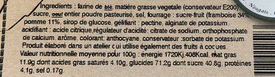 Tarte Framboise - Ingrédients - fr
