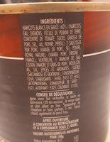 Cassoulet Pur Porc Mercadier Les Spécialités du Terroir 420g - Ingrediënten - fr
