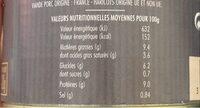 Cassoulet Pur Porc Mercadier Les Spécialités du Terroir 420g - Voedingswaarden - fr