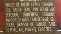 Boeuf en daube - Ingrédients - fr