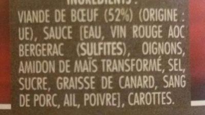 Boeuf en daube - Ingrédients