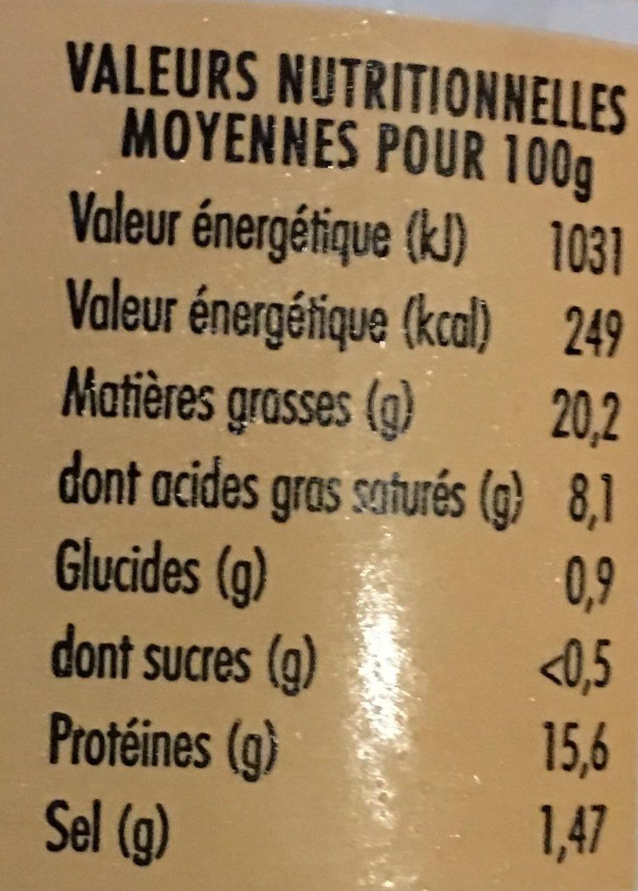 Pâte au piment d espelette - Informations nutritionnelles - fr