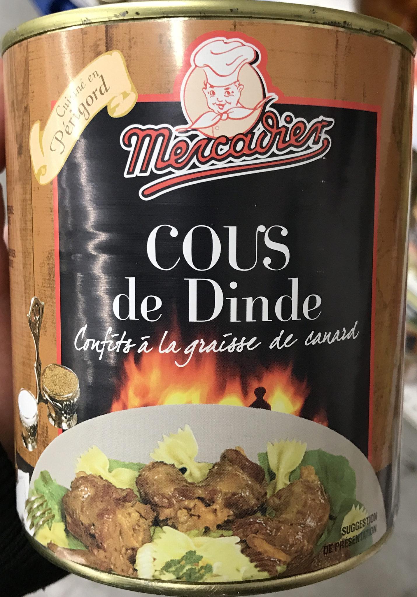 Cous de dinde confits à la graisse de canard - Produit - fr