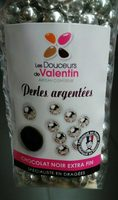 Perles Chocolat Argentées - Produit