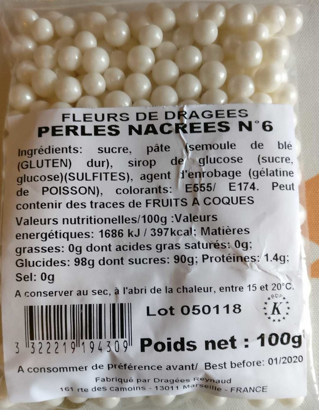 Perles nacrées n 6 - Produit - fr