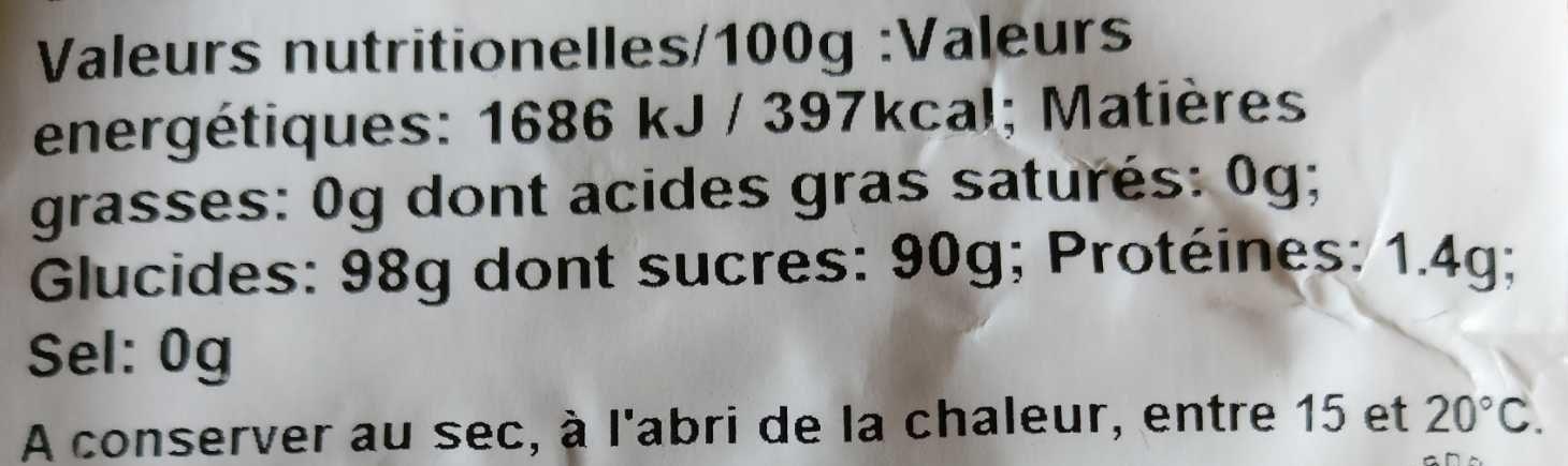 Perles nacrées n 6 - Informations nutritionnelles - fr