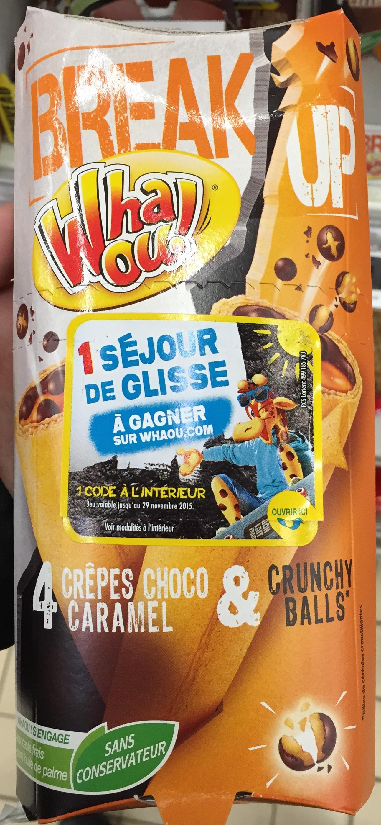Break Up 4 crêpes Choco Caramel & Crunchy Balls - Product
