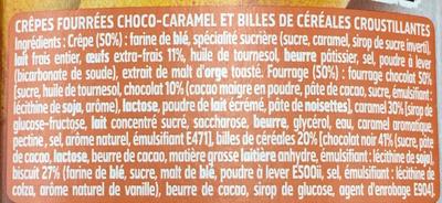Break Up 4 crêpes Choco Caramel & Crunchy Balls - Ingredients