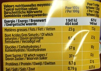 Crêpes Chocolat - Nutrition facts