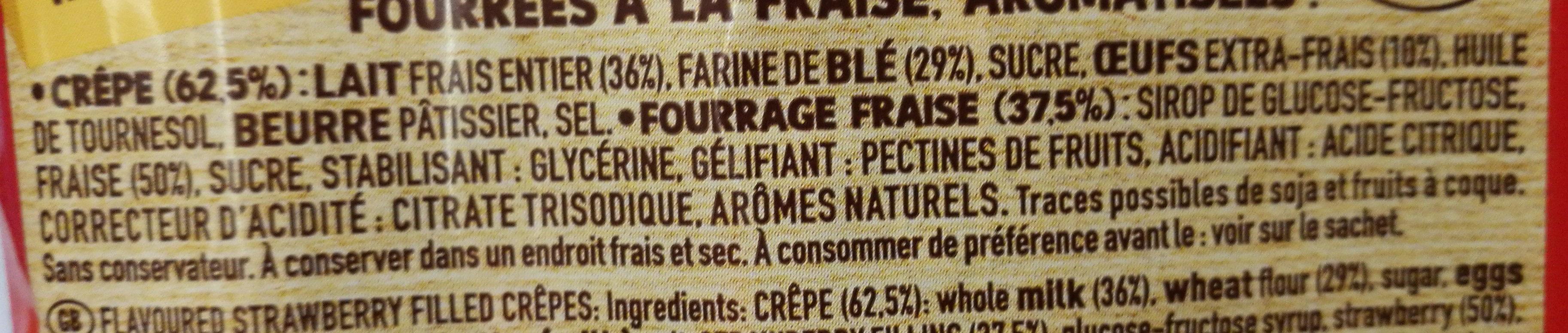 Whaou! Fraise - Ingrédients