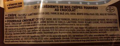 15 Crêpes Chocolat WHAOU - Ingredients