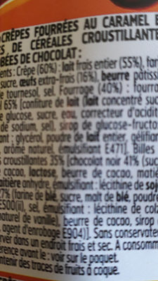 Cracky crêpes - Ingredients