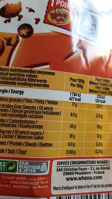 Cracky crêpes - Nutrition facts