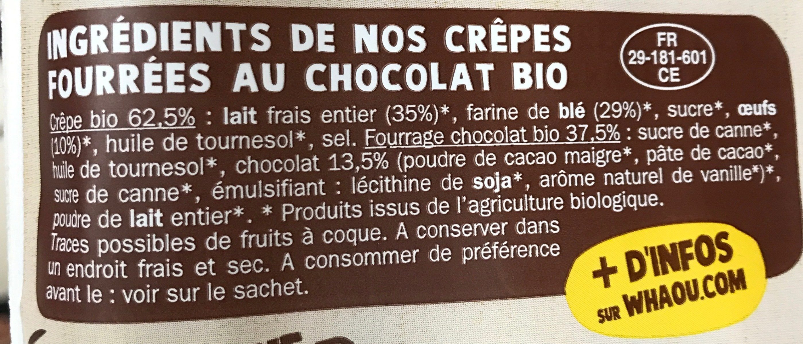 Whaou le Bio - Ingredients