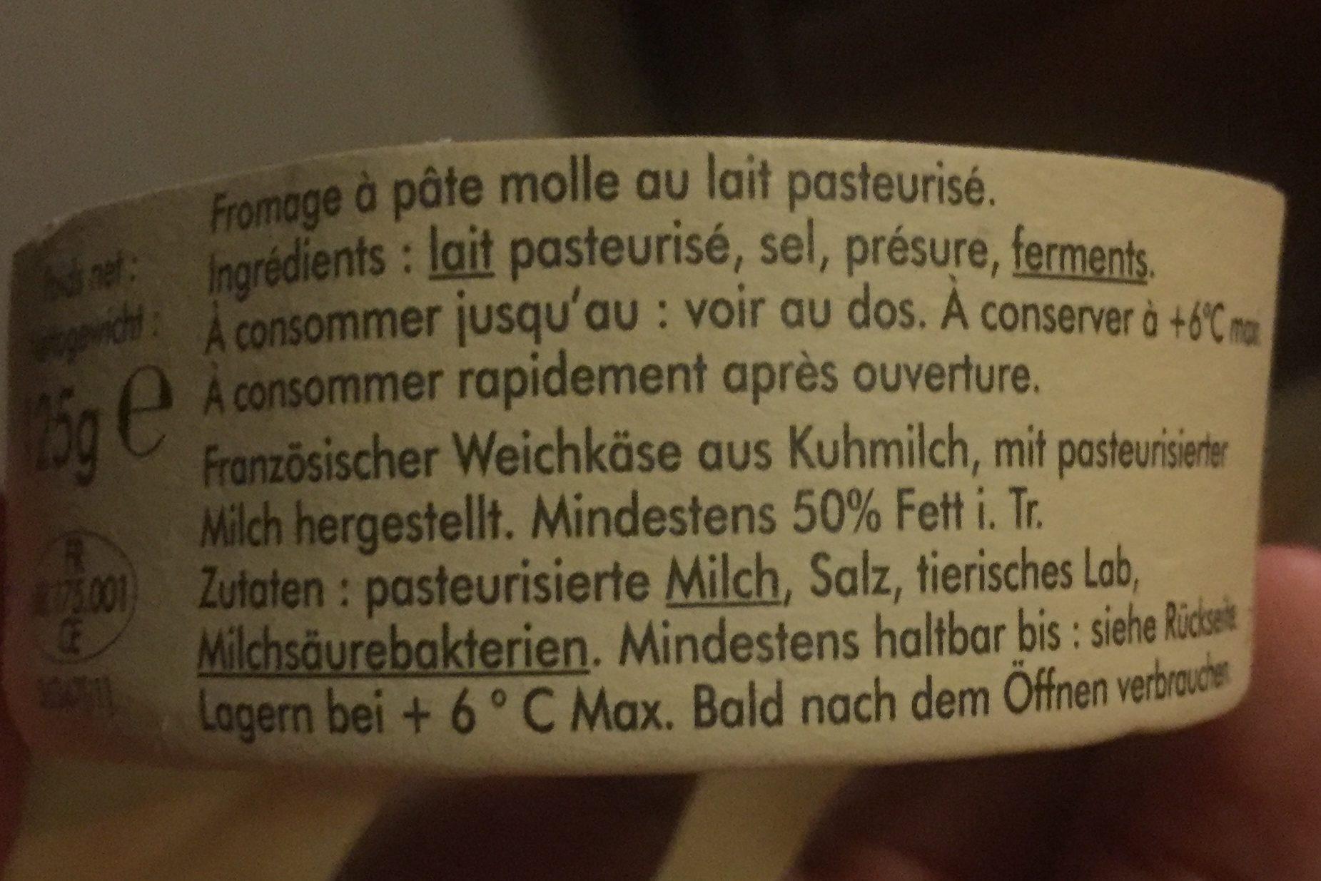 Petit munster - Ingrédients - fr