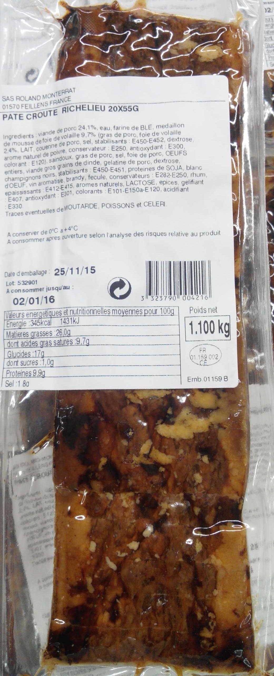 Pâté croûte richelieu - Produit - fr