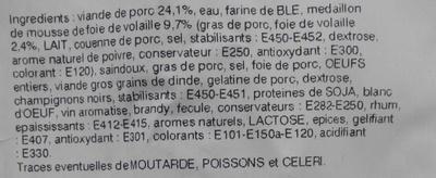 Pâté croûte richelieu - Ingrédients - fr