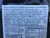 Pâté En Croûte Richelieu 2 Tranches - Ingrédients - fr