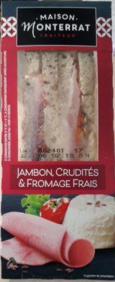 Jambon, Crudités & fromage frais - Produit - fr