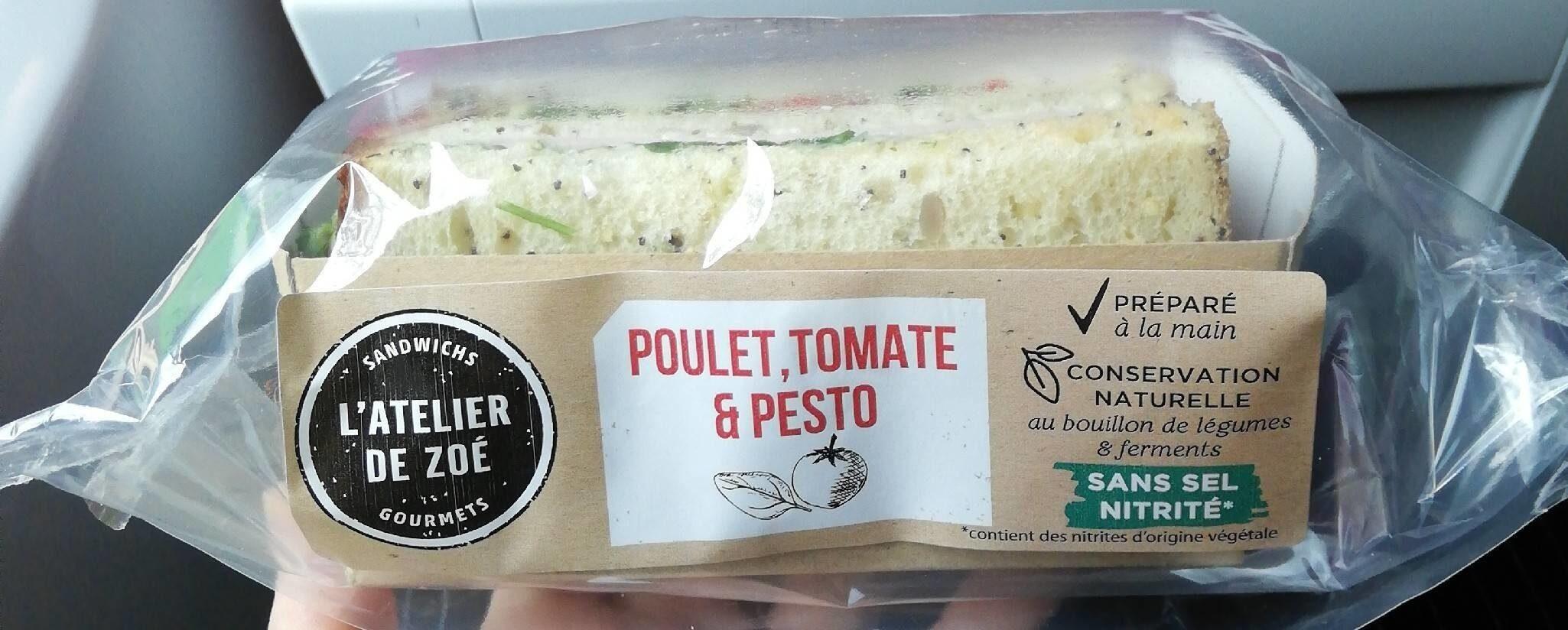 Atelier de Zoé Sandwich Poulet, Tomate & Pesto - Product - fr