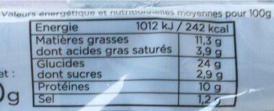 Sandwich poulet bacon et moutarde - Voedingswaarden - fr