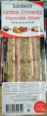 Sandwich Jambon Emmental - Product - fr