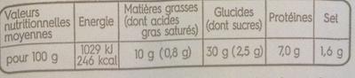 Sandwich Surimi Mayonnaise allégée - Informations nutritionnelles - fr
