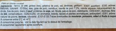 Pâté en croûte - Ingrediënten - fr