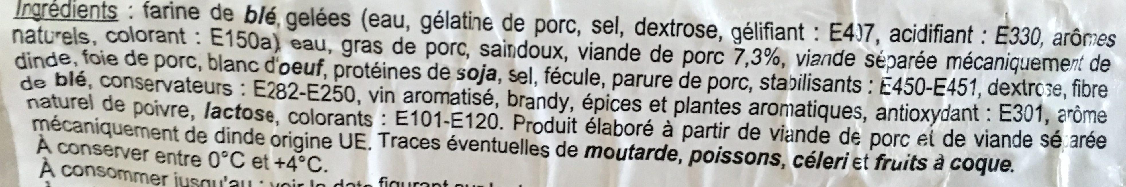 Le Cocktail - Pâté en Croûte - Ingrédients - fr