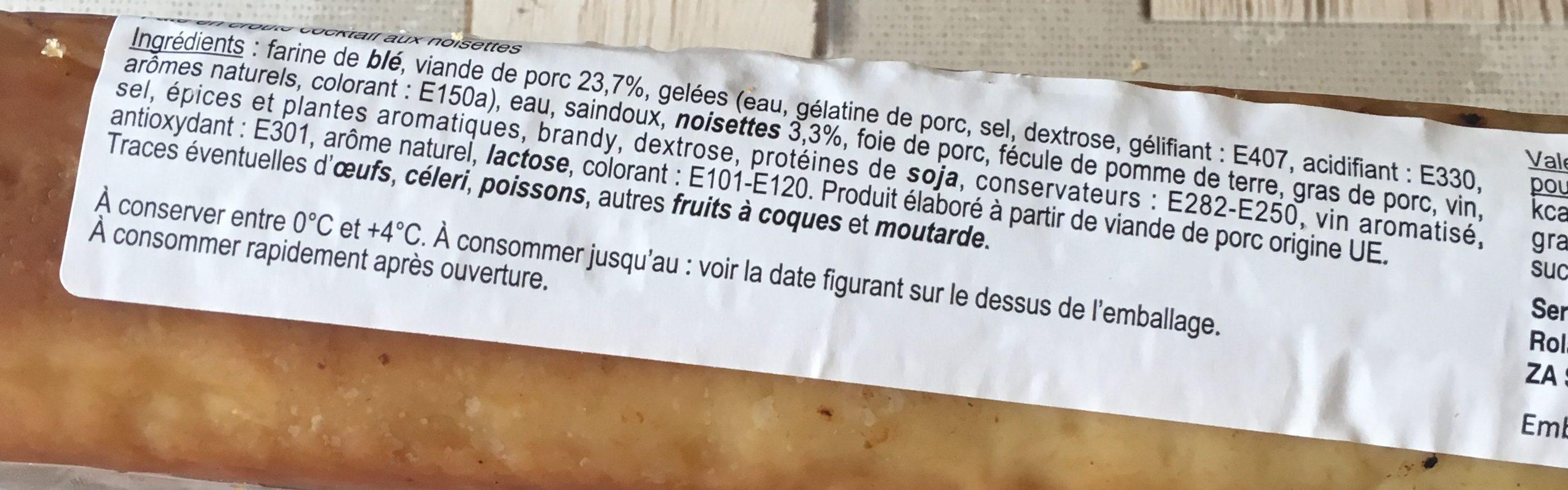 Paté en croûte - Ingrediënten