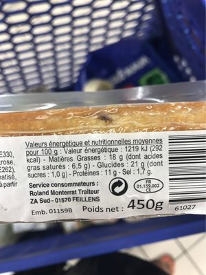 Pâté en croûte Apéri'Croq - Voedingswaarden - fr