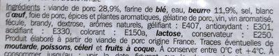 Pate en croute - Ingrediënten - fr