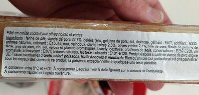 Aperi'Croq - Ingrediënten - fr