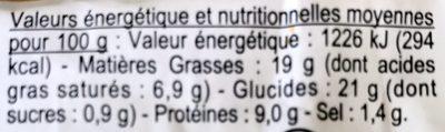Aperi'Croq - Voedingswaarden - fr