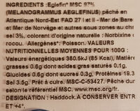 Filet de Haddock - Ingredients - fr