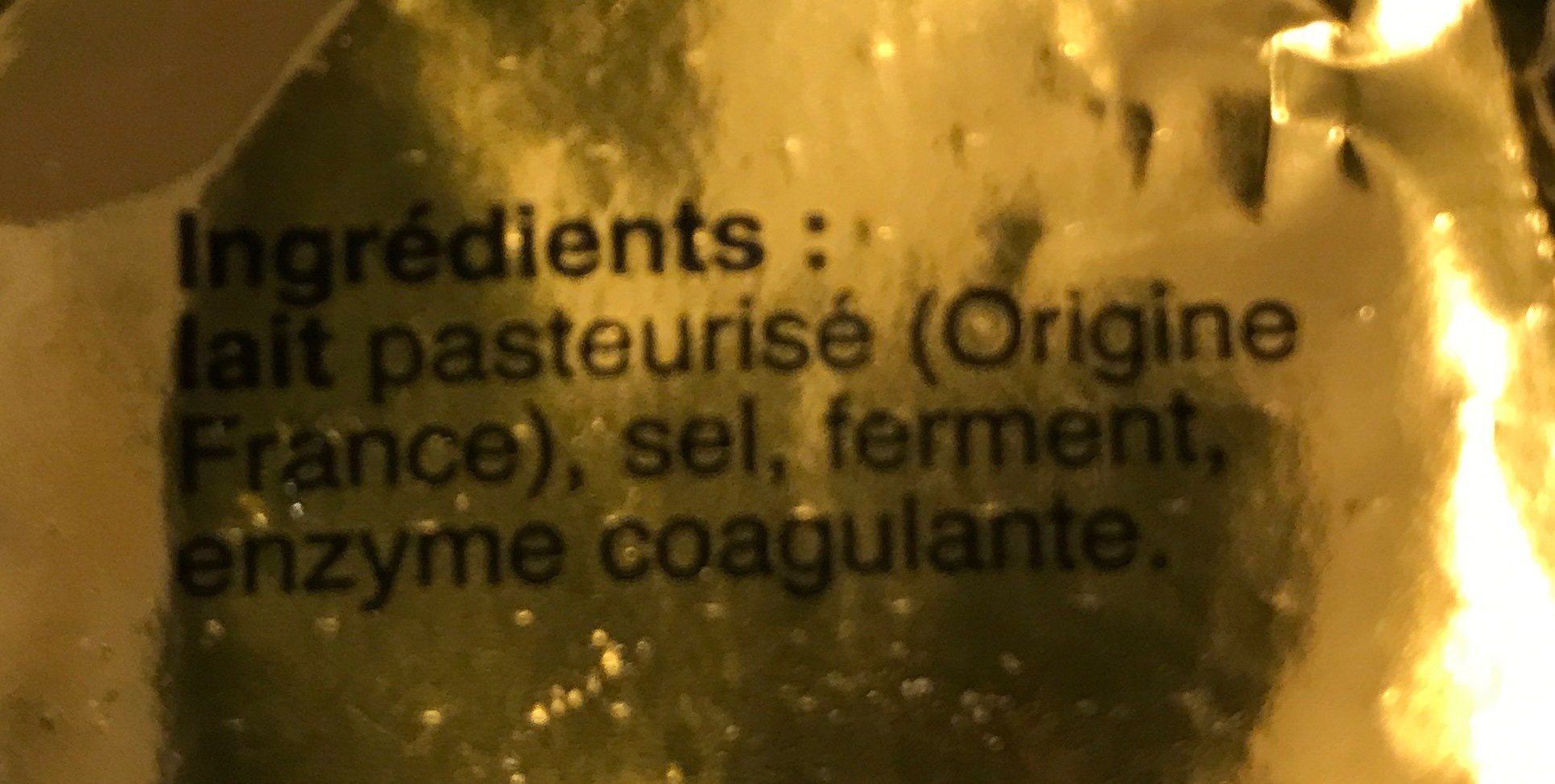 Val De Saone Camembert - Ingrédients - fr