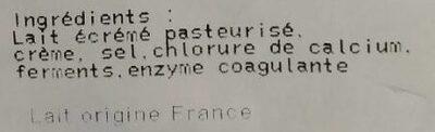 Camembert - Ingrédients - es
