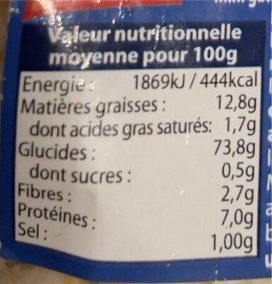 Snackitos - Voedingswaarden - fr