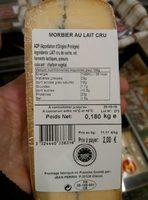 Morbier au lait cru (29 % MG) - Product - fr