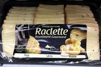 Fromage à raclette assortiment poivre - lait cru - moutarde - Produit - fr