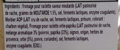 Assiette pour raclette trois saveurs - Ingrédients - fr