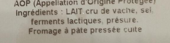 Apéro Snack-Salade Comté - Ingrédients