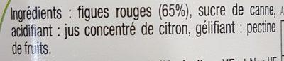 Confiture de Figues rouges - Ingrédients - fr
