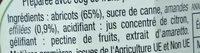 Confiture abricots aux amandes - Ingrédients - fr
