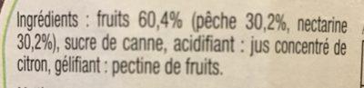 Confiture peche nectarine - Ingredients